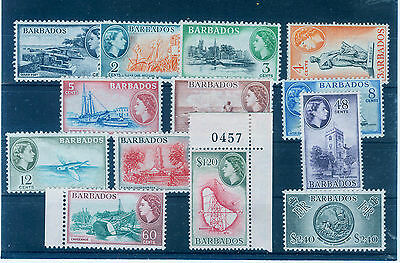 Barbados Karibik  1953-61 Definitive set SG 289-301 **,MNH mint no hinge