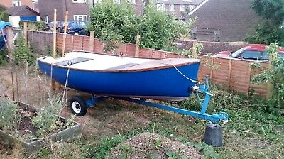 Rowing Boat Tender 12' feet by 5' feet with trailer