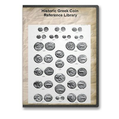 46 Historical Greek Coin and Medallion Reference Book Library on CD - D545