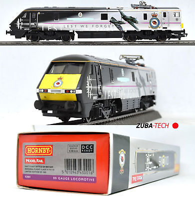 Hornby R3001 E-Triebwagen Class 91 der BR Royal Air Force, H0 GS Digi OVP / G108