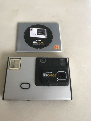 Vintage 1982 Kodak Disc 4000 Camera, with Instructions
