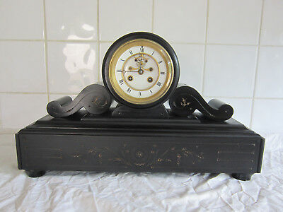 Stunning Drum Slate Chiming Temple Clock – Open Brocot-Circa 1890