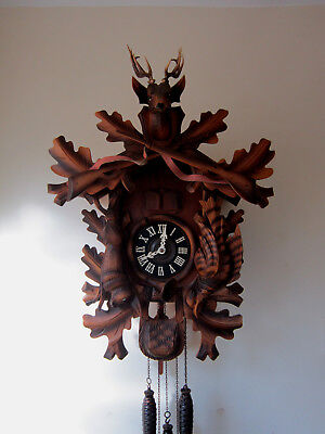 Superb Large Musical Black Forest Cuckoo Clock