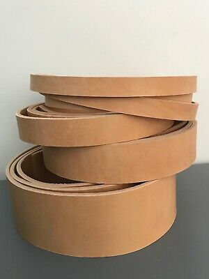 "65"" long 165cm Natural Veg Tan Leather Strap Belt Blank Strip 4mm thick"