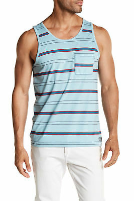 1aa27e9682d49c The North Face Mens Crag Tank Activewear Striped Knit Chest Pocket 2XL