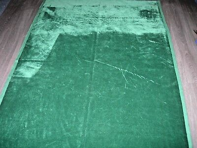 "Vintage green Cotton velvet fabric good vintage wear & fading 73"" X 47"""