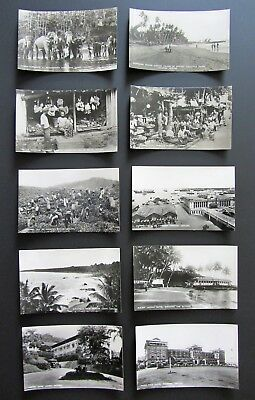 10 old vintage RARE postcards VIEWS AND CUSTOMS FROM CEYLON probably 30's PHOTOS
