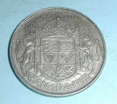 1952 Canada Fifty 50 Cent Coin - Wide Date
