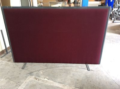 Two x Free Standing Maroon Room Divider