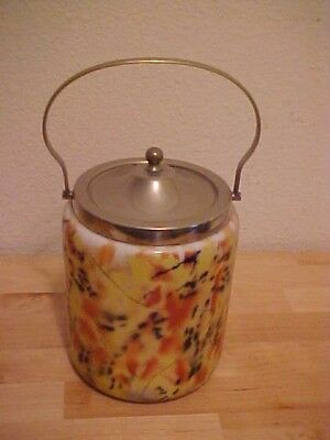 Antique Biscut, Cookie Jar  ( Gf.be.p.n )    Made In England,  Opaque