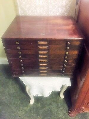 Marco watchmaker WOOD cabinet VERY RARE! 9 drawers WITH lenses