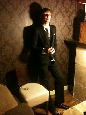 3 Piece Suit - 1960s Vintage Bespoke - Excellent Condition - Skinny Fit