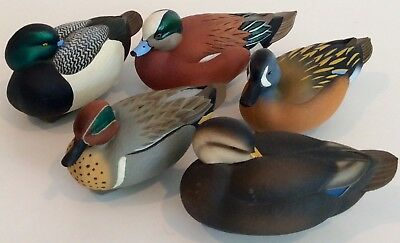 Jett Brunet Ducks Unlimited 5 Mini Decoys Blue Bill,Widgeon,Black Duck,Blue Teal