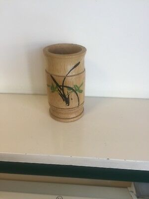 Decorated Oriental bamboo Brush Holder