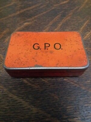 Small Red Vintage G.P.O Tin