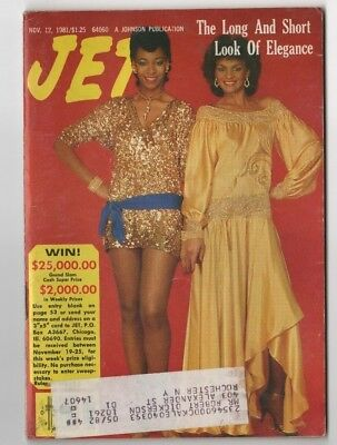 Jet Magazine - 1981 - Long And Short Look Of Elegance - Black Americana