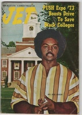 Jet Magazine - 1973 - Rev. Jesse Jackson. Save Black Colleges - Black Americana