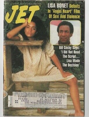Jet Magazine - 1987 - Lisa Bonet . Angel Heart Film. Bill Cosby- Black Americana