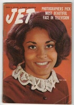 Jet Magazine - 1971 - Tracy Reed. Most Beautiful Face In Tv - Black Americana