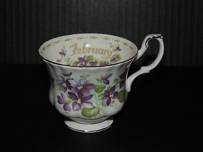 Royal Albert Bone China Flower of the Month Purple Violets FEBRUARY Teacup (C1)