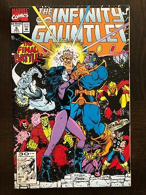 The INFINITY GAUNTLET #6 Near Mint (NM) 9.4 - Marvel Comics Avengers Thanos