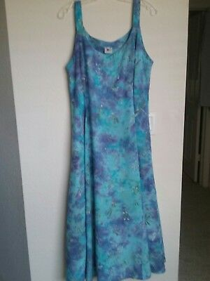 Gorgeous Lost River Indonesian Batik Sleeveless Dress Perfect Xl. Stunning Color