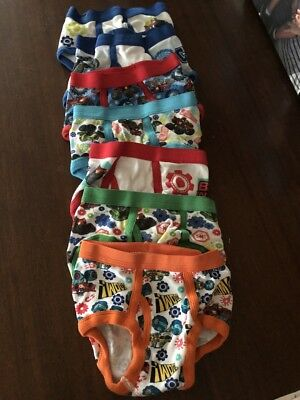 Brand New 7 Pairs of Blaze and the Monster Machines Boys' Underwear Size 2T/3T