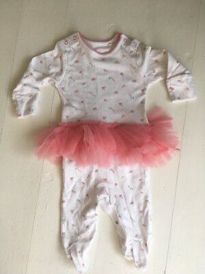 Baby Girls Tutu Babygrow Next Up To 1 Month 10lbs Immaculate Pink Floral Ditsy
