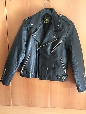 "Biker Jacket ""perfecto ""style Etches Leder Taille 46"