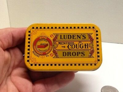 Vintage Luden's Menthol Cough Drops Advertising Tin.