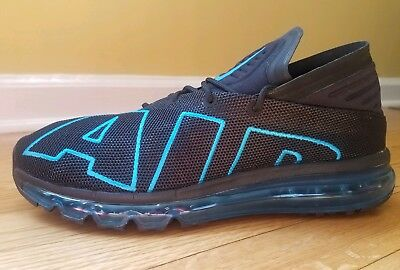 a7726eaebcb NIKE AIR MAX Flair Mens 942236-010 Black Neo Turquoise Running Shoes ...