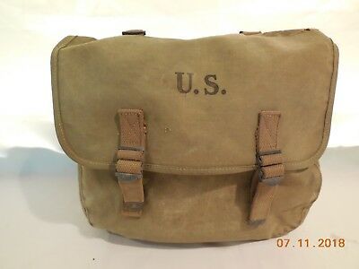 Original 1943 Wwii  Us Army  Haversack Musette Field Bag Military Backpack