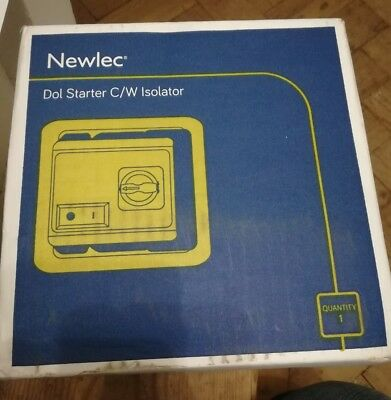 Newlec Starter DOL With Isolator 5.5kW 230V coil NLSTM25CSW