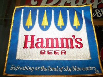 VINTAGE HAMM'S BEER CROWN LOGO Patch Sign Hamms Driver's Jacket Shirt 3-D Pines
