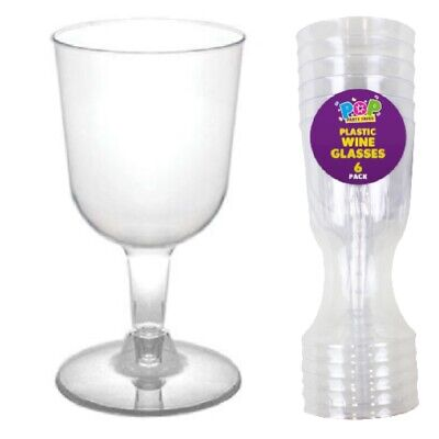 Disposable Wine Glasses Multi Pack Clear Plastic 120ml 4oz BBQ Party