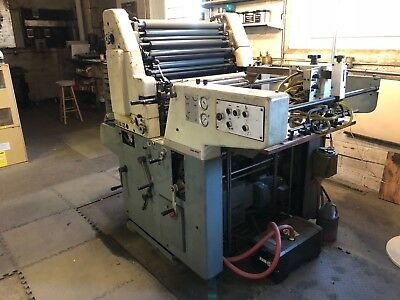 1976 Solna 125 Printing Press, 19 x 25, Single Color With Stream Feed