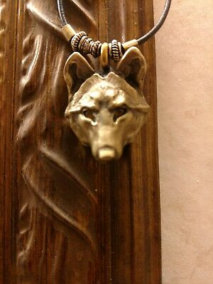 wolf head necklace custom made