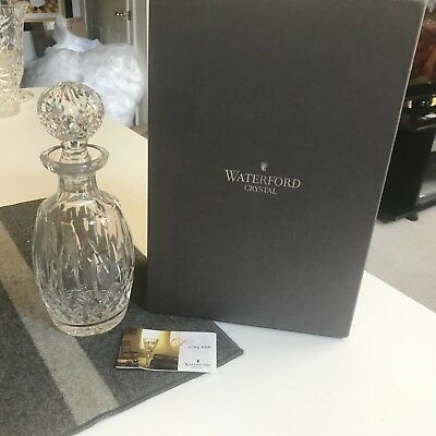 "SUPERB 10 3/4"" Waterford LISMORE CUT CRYSTAL SPIRIT DECANTER  MINT IN BOX!!"