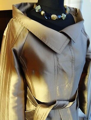 ** CELINE **  Authentic Silk Tailored-Fit Ladies Coat, Size FR 38, Immaculate