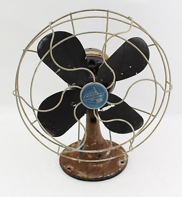 "Antique EMERSON Electric Type 2450-G 10"" Oscillating Electric Fan Art Deco Rare"