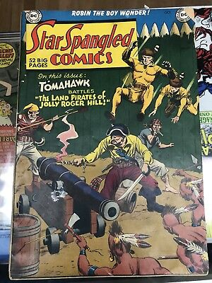 Star Spangled Comics #109 1950- Robin- Golden-Age Tomahawk LOW to MID GRADE