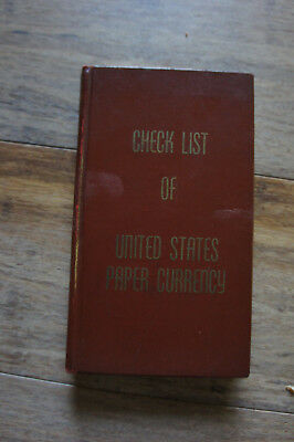 Check List of United States Large & Small Notes Fractional Currency Book
