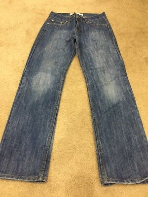 LEVI'S 514 Boys Youth Slim Straight Regular Fit Blue Jeans Size 14 Reg 27 X 27