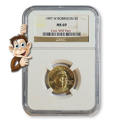 1997-W $5 Gold Jackie Robinson -- NGC MS69 -- NO RESERVE