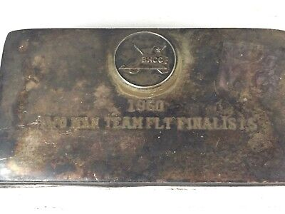 1960 Bunker  Hill Community College Two Man Team Flt Finalists Poole Silver Box