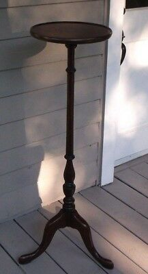 Antique Queen Anne Style Tripod Base Wood Plant Stand