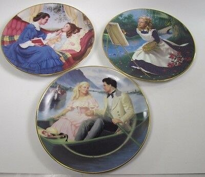 THE DANBURY MINT LITTLE WOMEN COLLECTOR PLATES Set of 3