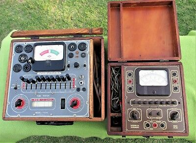 Vintage-LOT OF 2-Superior TV-11 and PB-210 TUBE TESTERS-AS IS-SHIPS FREE-L@@k!