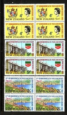 NEW ZEALAND....  1965  parliament mint blocks of 4