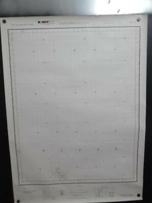 1945 MARQUESAS ISLANDS US Army Map Service Chart Proof Edition WWII Vintage